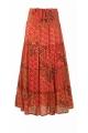 Jupe longue bohème de fabrication indienne, motifs cachemire, en coton