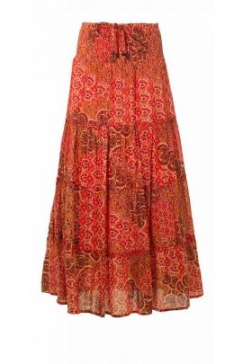 Long skirt bohemian indian made, paisley, cotton