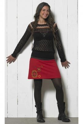 Pull maille pour femme en acrylique 100% style ethnique