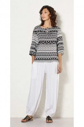 Blouse blouse boho chic, printed ethnic, short-mid-long