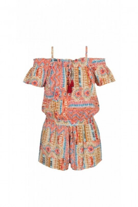 Combi shorts fluid and laid-back, bare shoulders, printed original