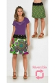 Skirt reversible, large belt pressure, printed and colourful