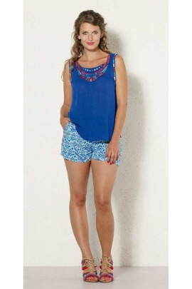 Shorts lightweight and cool viscose, printed funny rave colorful