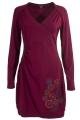 Short V-Neck Knitted Dress