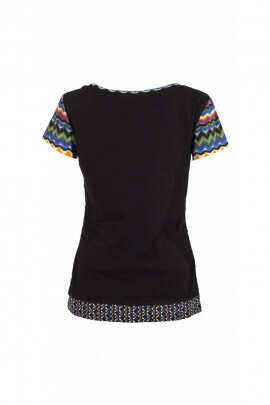T-shirt in cotton elastane for women, graphic print trendy and modern