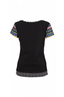 Tee-shirt en coton élasthanne pour femme, imprimé graphique branché et moderne