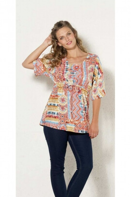Blouse light original, 3/4 sleeves, size, centered, reasons for the aztecs