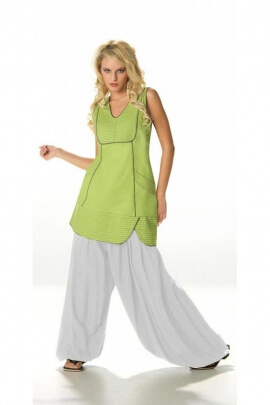 Baggy trousers, ethnic, large, plain, light and casual