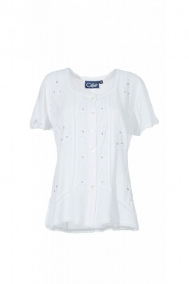 Blouse chic with embroidery are very worked original, viscose