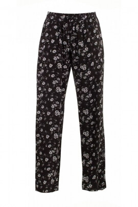 Pants right light and flowing, printed fleurette, modern and feminine