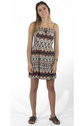 c45673076 ... original impreso Bonito vestido corto en voile de algodón