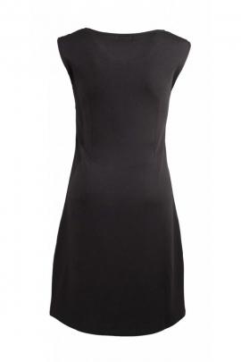 Jolie robe fourreau chic, avec dentelle aux épaules et pinces au dos