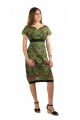 Short dress original cotton sail colored and lined, ethnic style casual