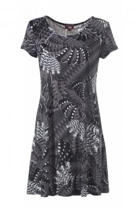 Robe décontractée à manches courtes, imprimée exotique originale