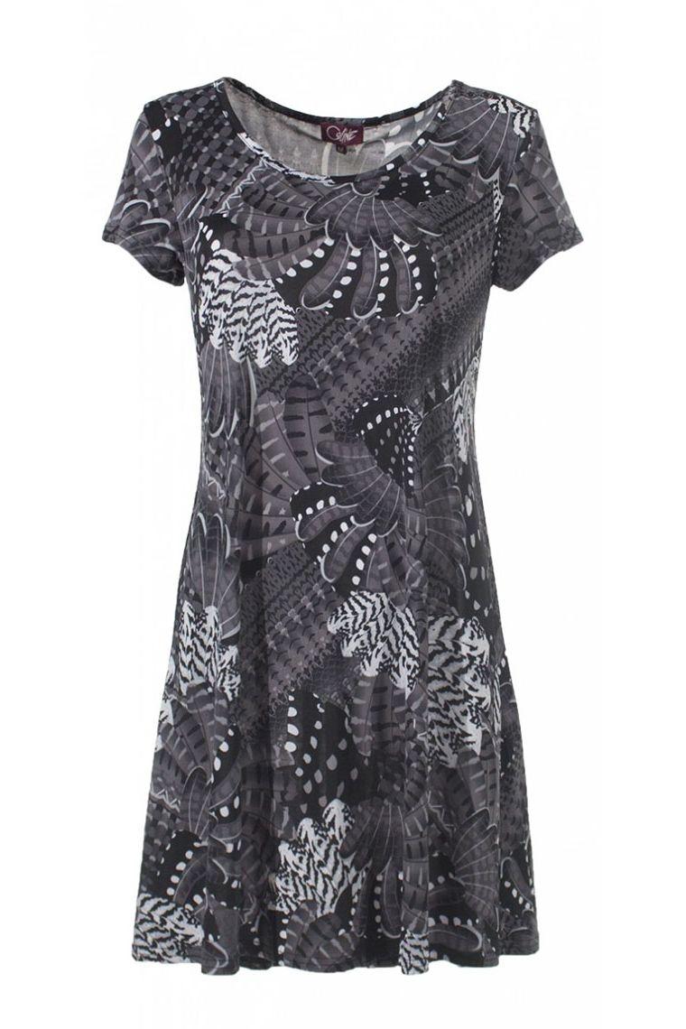 Dress casual short sleeve printed exotic original
