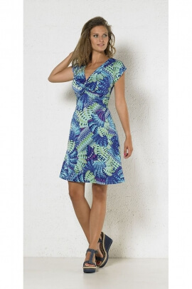 Dress hippie chic original, cache-coeur knotted, short and slender