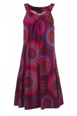 Robe bain de soleil décontractée et originale, imprimé mandalas coloré