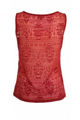 Tee-shirt débardeur décontracté et glamour, effet dévoré aztèque
