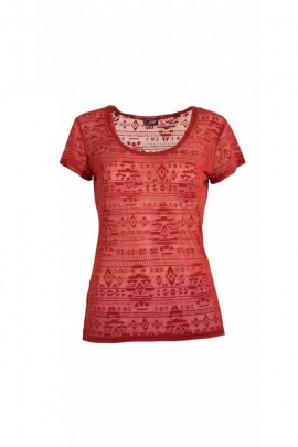 T-shirt trendy teuf short-sleeved, actually eaten, pattern, Aztec psychedelic