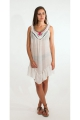 Tunic poncho original range, lightweight, and ethnic, bare back, macramé and embroidery