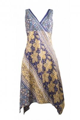 Robe sari originale et colorée, biais en composition hippie chic, fabrication indienne