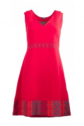 Mini-dress ethnic simple with colorful patterns, elegant and relaxed