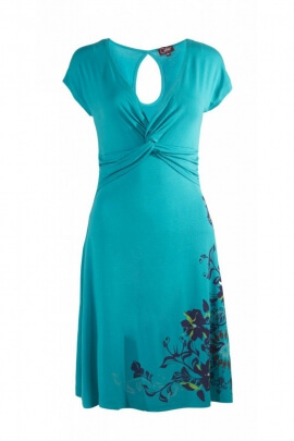 Dress elegant and romantic evening, floral print, delicate