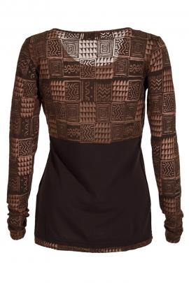 T-shirt maille jersey imprimé tribal devant