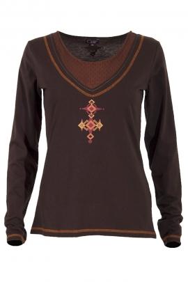 T-shirt maille jersey imprimé touareg