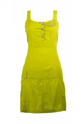 Cotton dress with shoulder straps, printed ethnic, passers-by for belt, cup charleston
