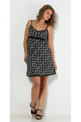 Dress cotton hippie chic to baroque-print, thin straps and link back