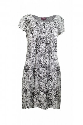 Dress ethnic hippie trend chic, short sleeves, printed african