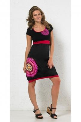Robe originale en coton, style hippie chic, imprimé rosaces ethniques