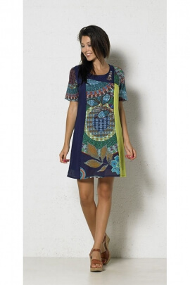 Dress tropical hippie chic original, special camouflage nature