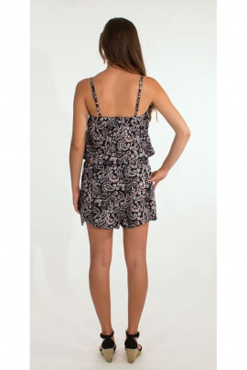 Playsuit hippie chic shoulder straps, paisley print original