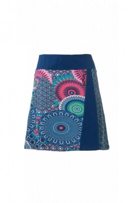 Short skirt ethnic colorful pattern wax african original