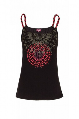 Tank top, lightweight, thin straps, printed spirit mandala original