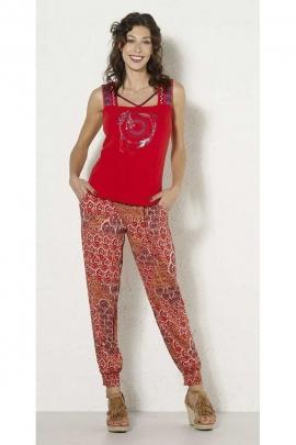 Tee-shirt débardeur coloré hippie chic, motif ambiance indienne colorée