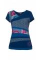 Cotton t-shirt V-neck collar, original patchwork, short sleeve