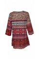 Tunic bohemian casual printed indian original, 3/4 sleeves