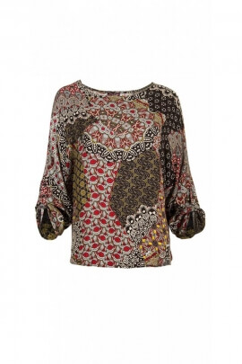 Blouse ample for the winter, ¾ sleeve printed chameleon original