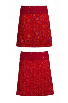 Skirt portfolio in cotton for the winter months, reversible, hipster style
