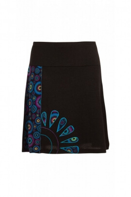 Skirt ethnic short for autumn, colourful graphic floral and sunny