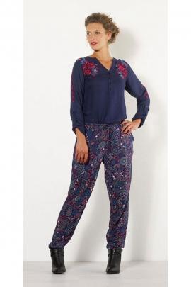Pantalon casual tendance hiver, coupe droite, imprimé Jaipur coloré
