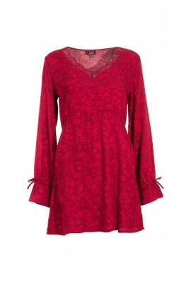 Tunic is original, neck lace and small lace on the cuffs