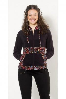 Veste courte originale et décontractée, toute douce, style sportswear