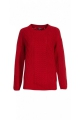 Knitted sweater in the authentic tradition with several associations of mesh