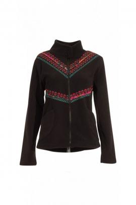 Chaqueta de lana original y chic, casual, bordado, gráficos y étnicos