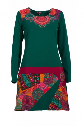 Dress original casual long sleeve, printed mandala