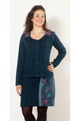 Bordado en la chaqueta botones de flor, para mujeres, estilo hippie chic
